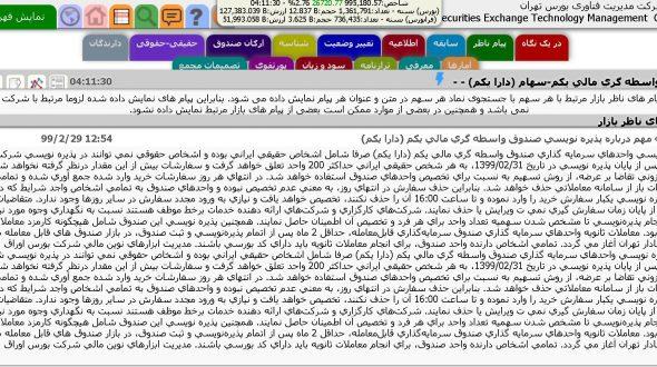 شرکت مدیریت فناوری بورس تهران – صندوق واسطه گری مالی یکم-سهام (دارا یکم)